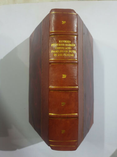 Revised Pedigree Tables Chiefs and Families of note Punjab 1940. 275 pages