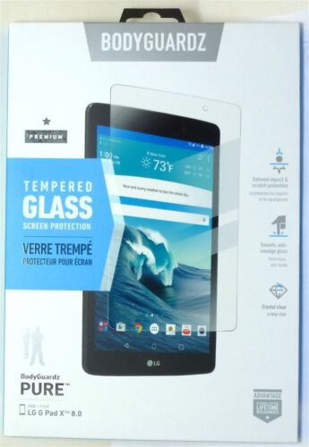 BodyGuardz Tempered Glass Screen Protector for LG G pad X 8.0