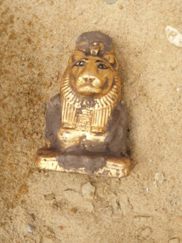 Rare Antique Ancient Egyptian Statue God Lion war Hunting Healing protect 1760BC