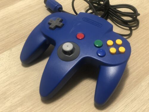 Genuine N64 Controller - BLUE - Firm Stick, Ready To Play! Nintendo 64
