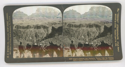 """1906 """"ANGEL'S GATEWAY, GRAND CANYON"""" BY H. C. WHITE STEREOVIEW PHOTO"""