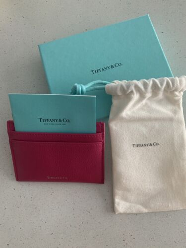 Tiffany & Co Card Case Hot Pink