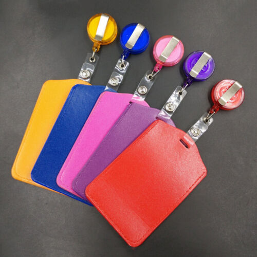 Bank Credit Card Holders PU Card ID Holders Identity Badge Retractable Reel HJI