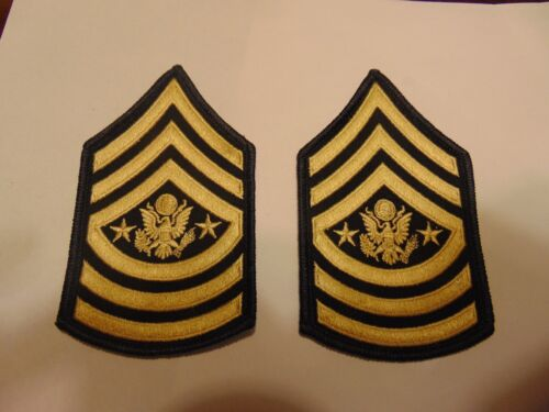 Military Patch Set Of 2 Command Sergeant Major Of The Us Army For Dress Blues
