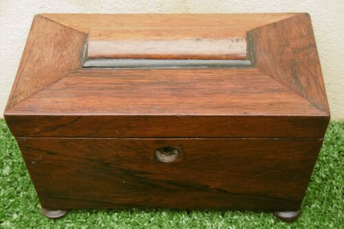 SUPERB GEORGIAN ROSEWOOD TEA CADDY BOX DOUBLE COMPARTMENT C.1790