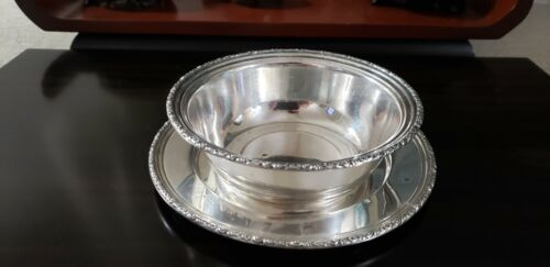 "MATCHING STERLING BOWL & PLATE ROGERS, LUNT & BOWLEN ""TREASURE"" 5.88 ozt."