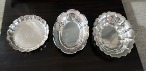 (3) STERLING FLUTED SMALL BOWLS NOT SCRAP 11.86 ozt.