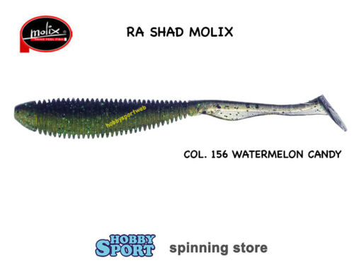 MOLIX RA SHAD 3,8' COLOR 156 WATERMELON CANDY SPINNING MARE LAGO