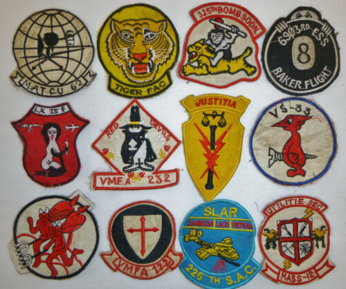 LOT x 12 Patch - RED DEVILS - CRUSADERS - US AIR ATTACK - USAF, Vietnam War, X15Patches - 104015