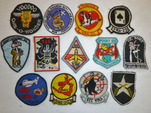 LOT x 13 Patch - USAF - SPS - VOODOO - AIR ATTACK - US NAVY - Vietnam War - X07Patches - 104015