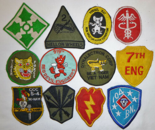 LOT x 12 Patch - US ARMY - MILITARY INTELLIGENCE - MACV-SOG - Vietnam War - X16Patches - 104015