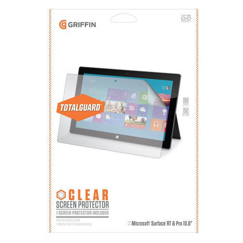 Griffin GB37757 Clear Screen Protector for Microsoft Surface RT & Pro 10.6 inch