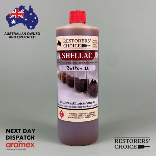 BUTTON SHELLAC PRE-MADE solution french polish 1 litre bottle