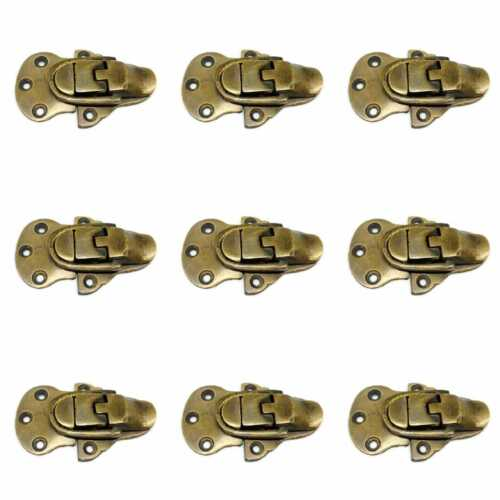 9 small TRUNK catch hasp latch suitcase BOX heavy solid brass LOCK 60mm B