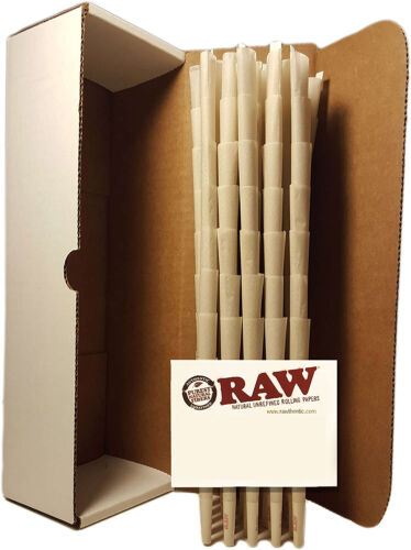 RAW King Size Organic Authentic Pre-Rolled  Cones 100 count
