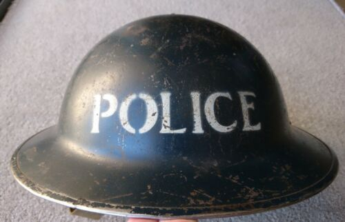 WW2 1939 Authentic Police Brodie helmet1939 - 1945 (WWII) - 13977