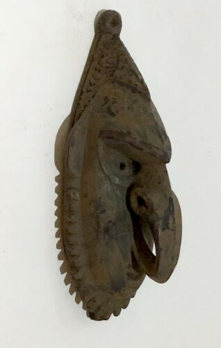 OLD PAPUA NEW GUINEA CARVED WOOD SEPIK PASSPORT MASK - AMAZING CARVING DETAILS