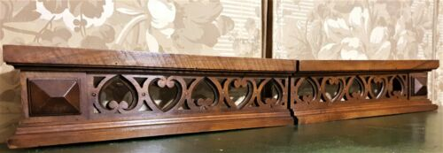 Pair amour love scroll carving pediment Antique french architectural salvage