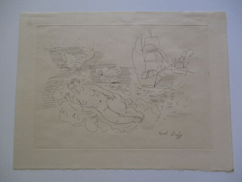 VINTAGE RAOUL DUFY ETCHING NUDE SURREALISM ABSTRACT EXPRESSIONISM RARE ANTIQUE