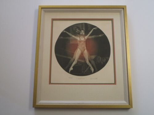 G.H ROTHE MEZZOTINT ETCHING RARE FRONT VIEW BALLET DANCERS SIGNED LIMITED ED