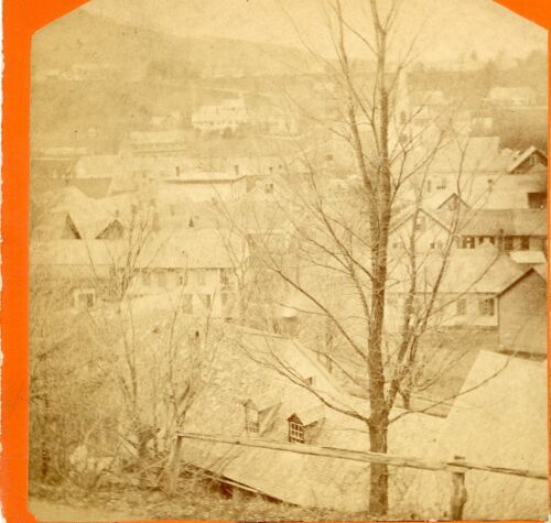 Springfield VERMONT: Overview of Town 1870s LE Jackman C667