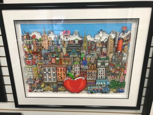 """Charles Fazzino """" A Winter Visit in the Big Apple """" 3-D Artwork Signed  Numbered"""