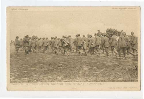 WWI ww1 First World War One First GERMAN PRISONERS Great Advance photo postcardFrance - 13964