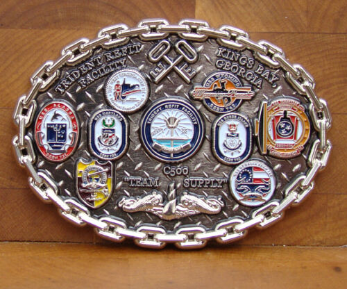 "TRIDENT Refit Facility Kings Bay GA Challenge Coin C500  3"" Other Militaria - 135"