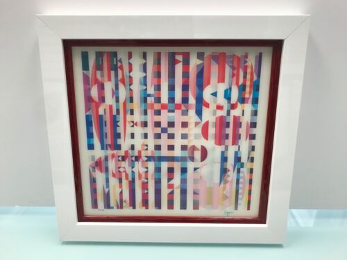 """Yaacov Agam Agamograph """"Holiness """" Signed & Numbered Limited Edition - Framed"""