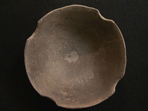 AUTHENTIC MISSISSIPPIAN NOTCHED RIM BOWL FROM SPENCER COUNTY, INDIANA