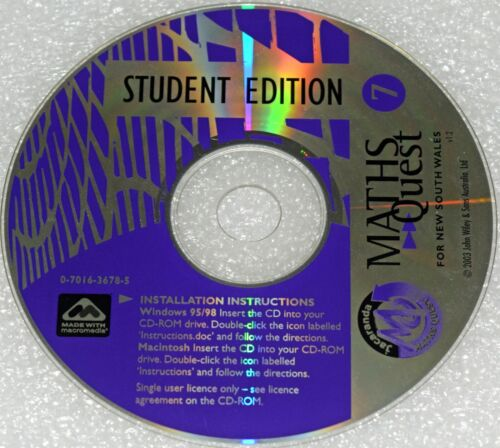 Maths Quest 7 Student Edition PC CD Rom 2003