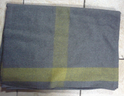 ~ Indian War Cavalry BLANKET - Wool - GREY with Yellow Stripe on 4 sides - New !Other Civil War Reproductions - 13961