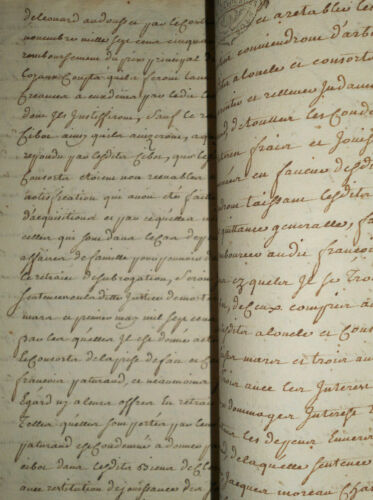 1776 ANTIQUE MANUSCRIPT DOCUMENT 22 PAGES CALLIGRAPHY BOURGES SIGNED NOTARY