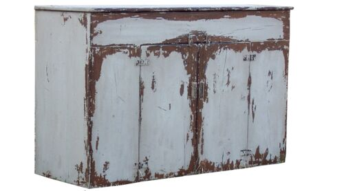 PRIMITIVE DRY SINK PAINTED COUNTRY FARMHOUSE PINE RUSTIC CABINET PINE CUPBOARD