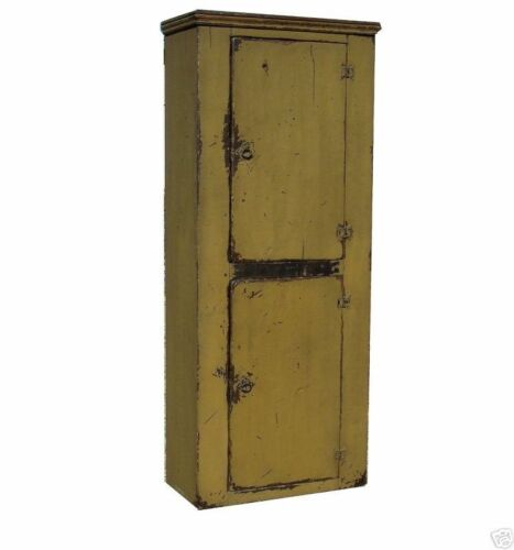 CHIMNEY CUPBOARD EARLY AMERICAN PAINTED PRIMITIVE COUNTRY PINE RUSTIC CABINET