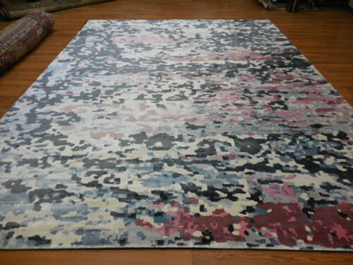 SuperFine  Abstract Transitional Modern Oushak savaran Decore Design Rug 9x12