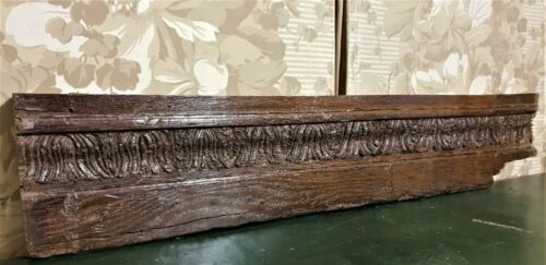 16 17 th century acanthus carving pediment Antique french architectural salvage