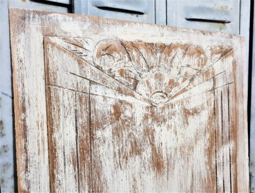 Art deco fruit flower wood carving panel Antique french architectural salvage