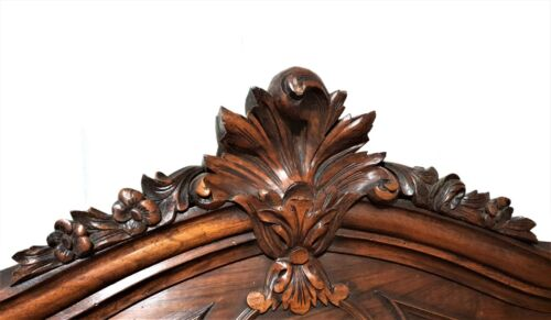 Flower louis XV wood carving pediment Antique french architectural salvage