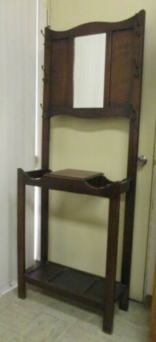 Antique Oak Hall Tree - Local Pick Up Only
