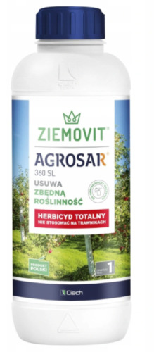 AGROSAR 1L 360 SL CONCENTRATE  WEEDKILLER PRO EXTENDED CONTROL ROUNDUP