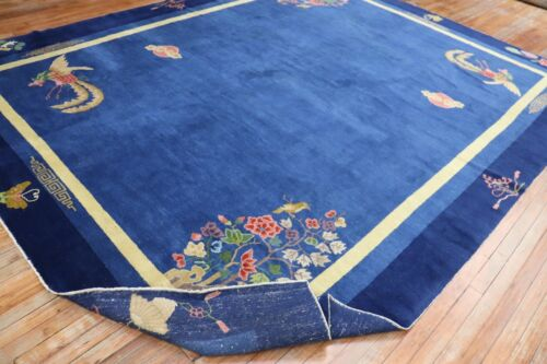 Antique Chinese Art Deco Rug Size 9'3''x11'8'' Perfect Condition