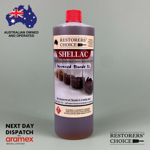 SHELLAC PRE-MADE Blonde solution dewaxed french polish 1 litre bottle
