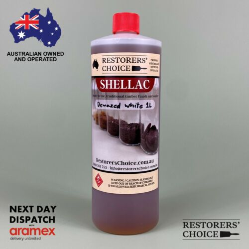 SHELLAC PRE-MADE solution Dewaxed white french polish 1 litre bottle