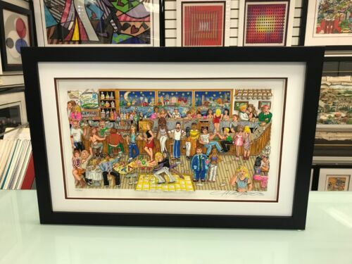 """Charles Fazzino """" Manhattan Martinis and Moonlight """" 3-D Art Signed & Numbered"""