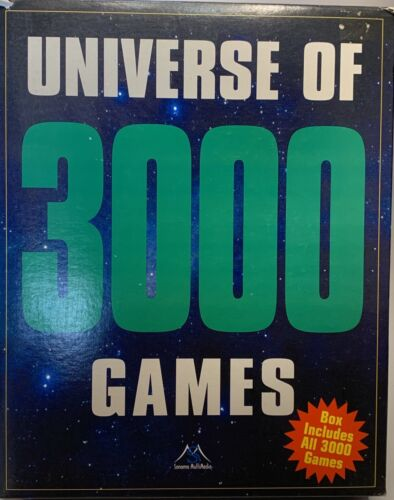 Big Box Rare PC CD Rom Universe Of 3000 Games 1997 Classic Compilation Used
