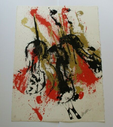 ARMAN SILKSCREEN  ABSRACT SIGNED LIMITED EDITION MODERNIST MUSICAL VINTAGE RARE