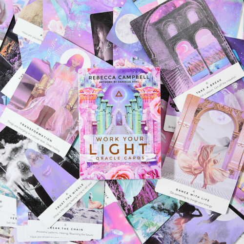 44 Pcs Oracle Tarot Cards Sheets Work Your Light Oracle Card Board Deck Games GY