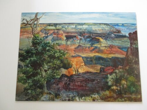 LARGE 40 INCH PAINTING GRAND CANYON AMERICAN IMPRESSIONIST LARGE LANDSCAPE BURR