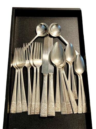 National Silver 1948 Inauguration Flatware Craft Lot Small Set 18 Pieces Spares
